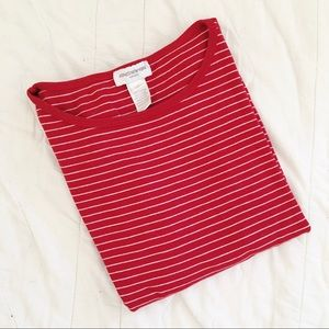 Vintage Red Stripe Boxy Tee